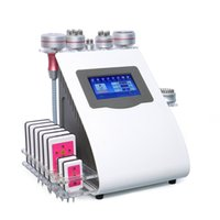 Portable 9 in 1 40k Ultrasonic Cavitation Slimming Vacuum Pressotherapy RF Cold Hammer Burn Laser Diode Cellulite Reduction Weight Loss Machine
