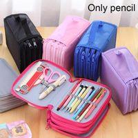 Pencil Bags 72 Hole Art Storage Case Girls Boys Pen Box 4 Layer Large Cartridge Bag Stationery Kit Pencilcase Student Supply