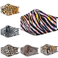 Máscaras de diseñador camuflaje leopardo impreso algodón cara mascarilla moda adulto máscara lavable winter caliente mascarilla