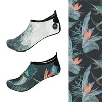 Cover-ups Nujune Summer Water Shoes For Women Men Non-Slip Beach Socks Colorful Slippers Swimming Sea Surfing Diving Breathable