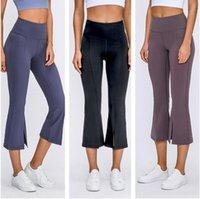 Lulu-32 Womens High cintura Leggings Yogas Terno calças esportes criando quadris ginásio desgaste desgaste desgaste alinhar elástico exercício de fitness flared largura largura yoga lua