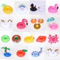 Надувные Flamingo напитки чашки держатель для чашки бассейна поплавки барные присталки Floadation устройства детская ванна игрушка маленький размер вы можете выбрать