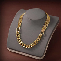 NEW Fashion gold chain necklace for mens women party wedding engagement lovers gift jewelry with box NRJ