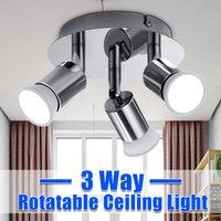 Spotlights 3 Ways Rotatable Led Spotlight 220V Spot Light Track Rail Ceiling Spots Lamp For Home Bedroom Kitchen Indoor Lighting