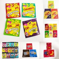 Cannaburst Gummies Mylar Bags 500 мг Пустые тропические ягоды Y Застегивание мешочек на молнии