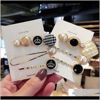 Vintage Houndstooth Przycisk Grid Grid HairClip Gold Clips Crown Heart Pearl Włosów Pin Dla Kobiet Mody Akcesoria Barrettes Humof Ke72s