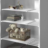 Регулируемый гардеробной организатор хранения полки настенные настенные кухонные стойки сберегательный шкаф декоративные полки держатели кабинета 520 S2