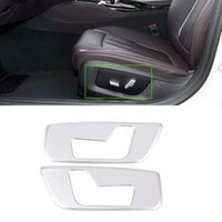 Car Front Seat Adjustment Panel Cover Trim Frame Sticker Fit For BMW 5 Series G30 G38 Auto Interior Accessories