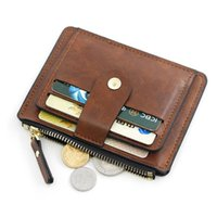Card Holders Small Fashion Pu Leather Wallet With Coin Pocket Man Money Bag Case For Men Mini Women Business Credit ID Holder Slim Purse