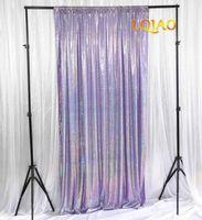 Party Decoration Arrivi Laser Dark Lavender Paillettes Backdrops Wedding PO Booth Background Decor Tende Drape Drape Pannelli