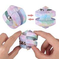 Stress Rilievo giocattolo cubo rotante in marmo pista metallica perline orbita puntartip infinity spinner alleviare i giocatori di puzzle per bambini 0628