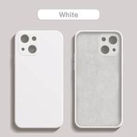 Cell Phone Cases do telefone de silicone líquido quadrado original para for iphone 11 12 13pro max mini xsmax xr x 7 8 macio fina capa traseira funda
