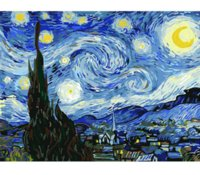 RUOPOTY Frame DIY Painting Van Gogh Starry Sky Picture By Numbers Landscape Wall Acrylic Paint For Home Decor Art