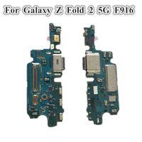 5 adet Orijinal USB Şarj Dock Bağlayıcı Flex Kabloları Değiştirme Samsung Galaxy Z Katlama 2 5G F916 F9160 W21 Şarj Portu Mikrofon Kurulu