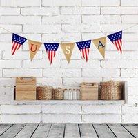 USA Swallowtail Banner Independence Day String Flaggen Buchstaben Bunting Banner 4. von Juli Party Dekoration BWC7583