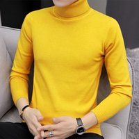 Mens Solid Color Pullover Designer Pullover Slim Bottom Pullover Männliche Wintermode Lange Ärmeln Tops