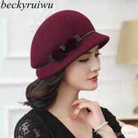 2020 Лучшие 100% Австралия Шесть Федорас Женская Осень Зимняя Церковь Cloche Hats Элегантный Банкет Mink Fur Fedora Hat