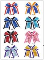 Amerikanische Kinder Bogen Hair Band Fußball Baseball Cheerleading Gummiband Mädchen Pailletten Kopfschmuck Bunte Handgemachte HWE6996