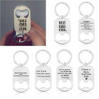 Keychains Stainless Steel Bottle Opener Keychain Father's Day Jewerly Gift M0XF