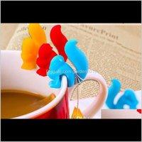 Diğer Mutfak, Yemek Bar Tutucu Çay Torbası Askıları Sevimli İçecek İşaretleyiciler Sincap Şekilli Cam Charm Şile Bardaklar ve Kupalar için XKWPN C3PO0