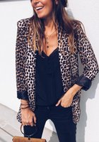 Women's Suits & Blazers 2021 Spring Printed Leopard Snake Colour Fashion Casaco Feminine Jackets Ladies Turn Down Collar Tunic Outwear Waist