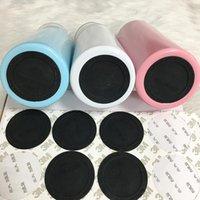 Мода круглые черные коврики резиновые кабельные подушки самоклеющиеся ковбинные чашки нижние наклейки для 20 унций 30oz Tumblers защитные нескользящие прокладки