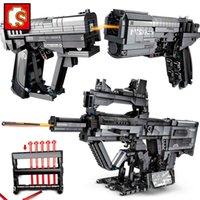 Sembo blocks Technique signal guns moc kits sets Military weapons model building boy toys army bricks The Wandering Earth rifle X0503
