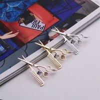 트렌드 패션 액세서리 빗 가위 코르 간 브로치 핀 고품질 시뮬레이션 된 라인 석 장식 액세서리 39 W2