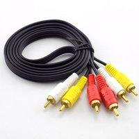 1.5m 3 RCA bis männlich 4n OFC Audio Video AV-Kabel für Home DVD-TV-Verstärker-CD-Soundboxdraht