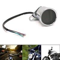 인테리어 장식 범용 오토바이 디지털 속도계 레트로 LCD 주행 거리계 카페 레이서 타코미터 표시기 스쿠터 ATV 미터