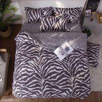 Bedding Sets Leopard Flower Print 4pcs Girl Boy Kid Luxury Bed Cover Set Duvet Adult Child Sheet Pillowcase Comforter