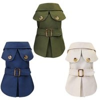 Pet British Style Tricolour Warm Coat For Autumn And Winter Small Dogs Jacket Dog Handsome Cloak Trench Apparel