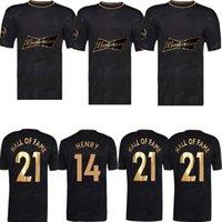 2021 Hall of Fame Soccer Jersey Alan Shearer Thierry Henry Football Chemises de football célèbre Start britannique Kits spéciaux Englishman Stars Uniforme Equipment Hommes S-XXL