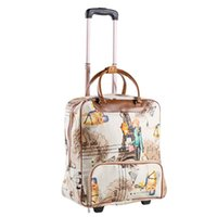 Duffel Bags Fashion Women Travel Business Boarding Bag ON Wheels Trolley Large Capacity Rolling Luggage Retro Girl Suitcase