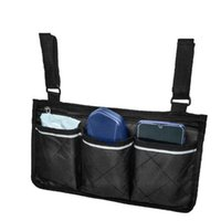 Storage Bags Wheelchair Multi-pocket Side Hanging Bag Pouch With Reflective Strip