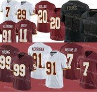 99 Chase Young 7 Dwayne Haskins JR 11 Alex Smith 21 Sean Taylor 20 Landon Collins Вашингтонмен Футбольные майки