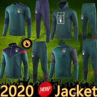 2020 Italien Jacke Training Anzug Trainingsanzug Sportswear Futbol Camisa Totti Pirlo Insignente del Piero Fussball Jerseys Italia Football Camiseta