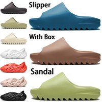 New foam runner  mens slipper sandalo scarpe resina bone triple nero bianco deserto sabbia terra marrone uomo donna stilista sandali