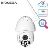 Inqmega velocidade cúpula 5x zoom nuvem ao ar livre 1080p ptz ip câmera sem fio câmera sem fio rede de rastreamento automático cctv segurança wifi1