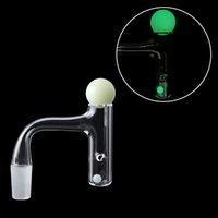 Dito del quarzo del quarzo del fumo del bordo smussato della saldatura completa di alta qualità Banger con le palline luminose luminose luminose di 6mm 20mm per le palle di vetro dell'acqua di vetro Bongs DAB rig