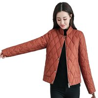 Women's Trench Coats 2021 Winter Female Parkas Slim Fashion Cotton Stand Collar Jacket Temperament Short Single-breasted Coat