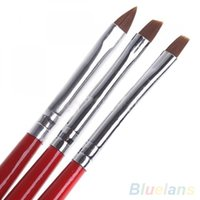 Nail Brushes 3 Pcs Set UV Gel Acrylic Art Brush Painting Drawing Pens Manicure DIY Tool
