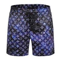 2021 Casual Mens Beach Shorts Womens Designer Breve carta Roupa Rainbow Imprimir tira Cinco calças de fita casual M-3XL