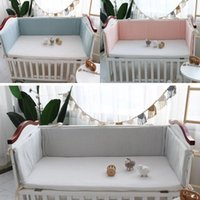 Bedding Sets Cotton Baby Bed Thicken Bumper One-piece Crib Around Cushion Cot Protector Pillows Washable Borns Room Decor Set