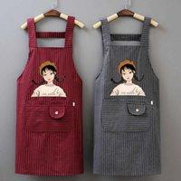 Delantal algodón trabajo nuevo estilo de aceite antifouling antiincrustante encantador de moda cocina casa cocina sling hombre