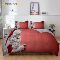 Bedding Sets ZEIMON Merry Christmas 3D Santa Claus Tree Stars Gift Printed Design Duvet Cover Full Twin Double Single Size Set