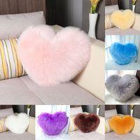 Amor almohada multicolor en forma de corazón con forma de imitación de lana Moderno Moderno Minimalista y cómodo Cojín Tamaño 35 * 44cm