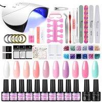 Nail Art Kits COSCELIA 7 Ml Polish 32 Colors Base And Top For Gel UV LED Lamp Drying Nails Stamping Varnish Semi Permanent Tools