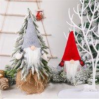 Christmas Handmade Swedish Gnome Scandinavian Tomte Santa Plush Elf Toy Table Ornament Xmas Tree Decorations PHJK2109