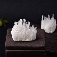 Decorative Objects & Figurines 1PC Natural Crystal Cluster Quartz White Reiki Healing Stones Point Specimen Home Decoration Crystals Min